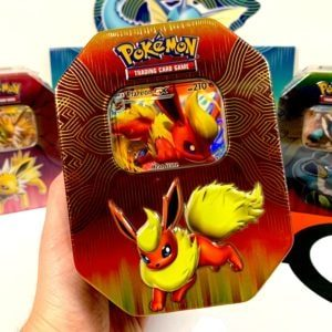 Pokemon TCG Elemental Power Tins Flareon GX CardCollectors