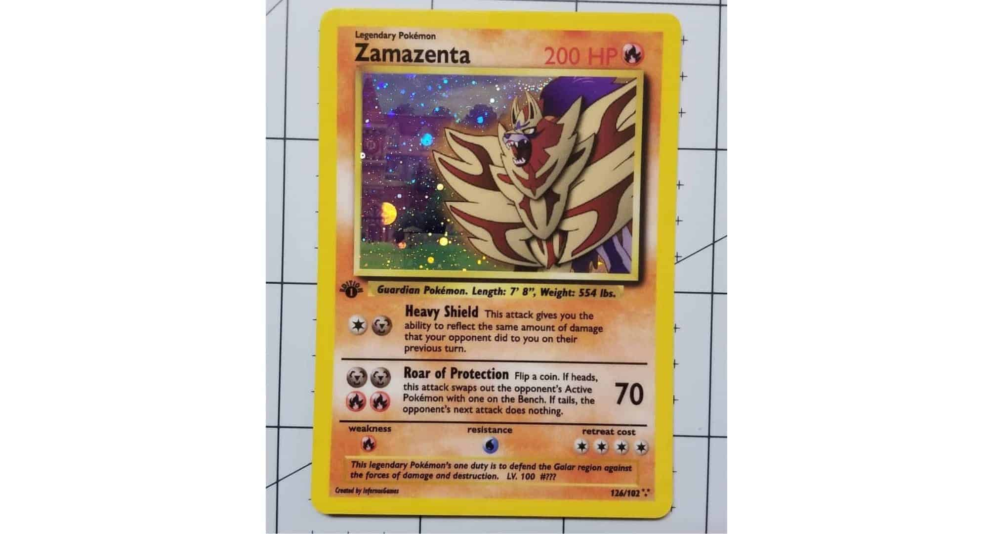Pokemon TCG Custom Gen8 Trading Card Legendary Zamazenta Holo by Pokemondecals CardCollectors