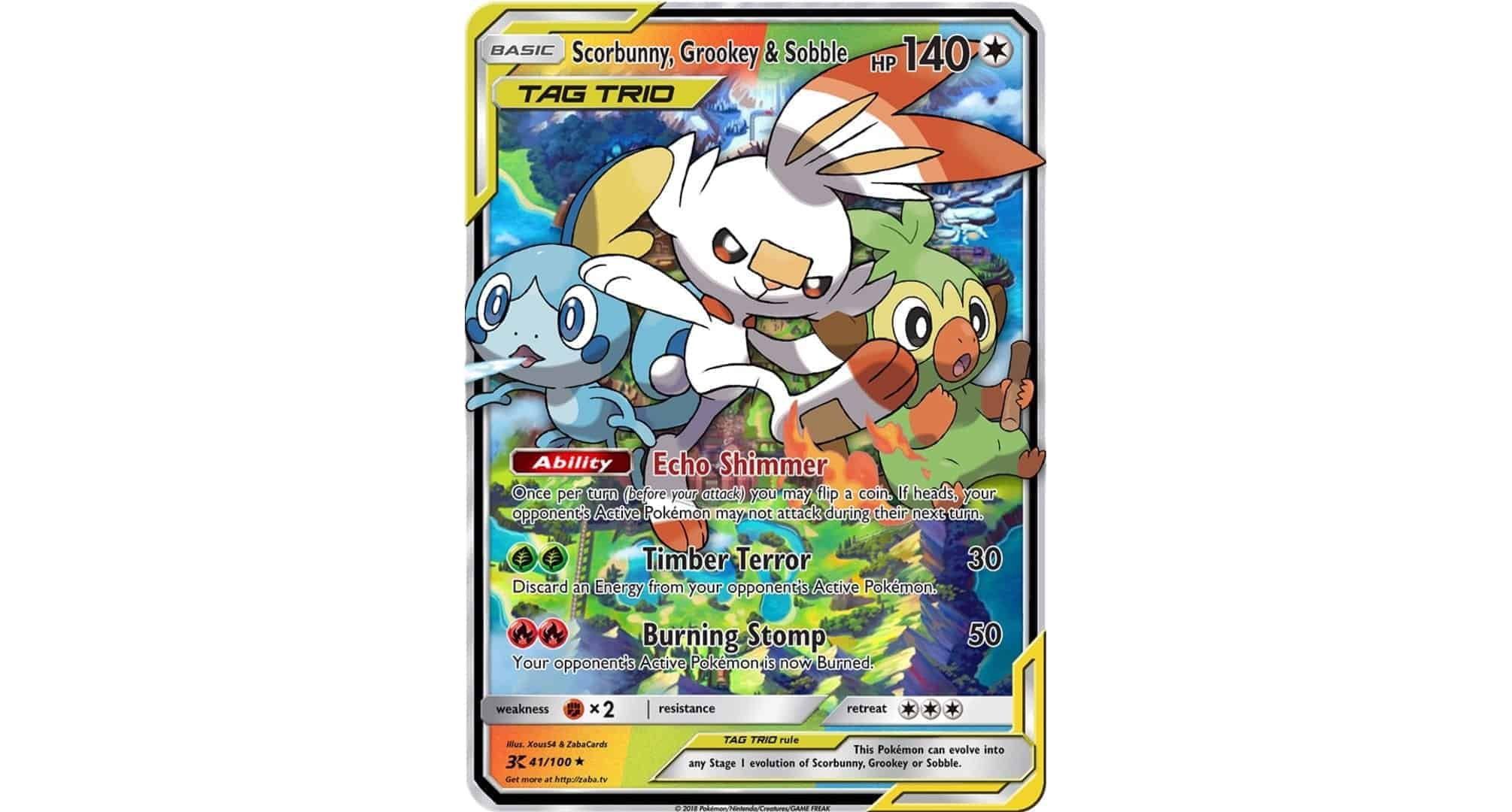Pokemon TCG Custom Gen8 Trading Card Starter Tag Team Trio by Zaba CardCollectors