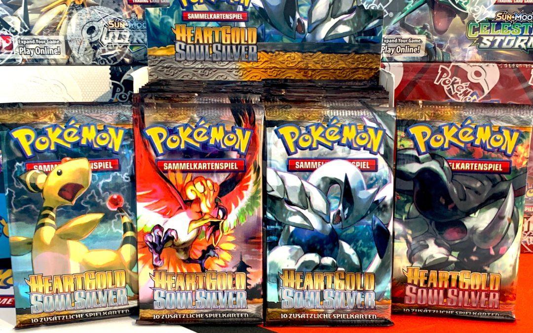 Kartenjagd: «Heart Gold Soul Silver: Base Set» – Wertvolle Karten im Set? Wir öffnen 10 Pokémon Booster Packs
