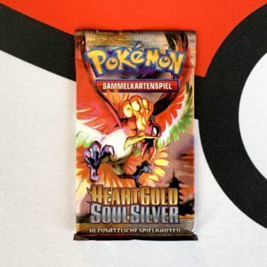 Pokemon TCG Heart Gold Soul Silver Base Set Booster Pack Ho-Oh Front