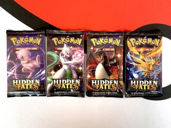Hidden Fates Booster Packs Set of 4 all Artworks Pokémon TCG CardCollectors