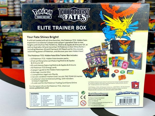 Hidden Fates Elite Trainer Box Back CardCollectors