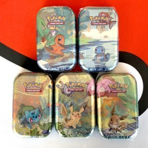 Kanto Friends Mini Tins Set of 5 Front Pokemon TCG CardCollectors