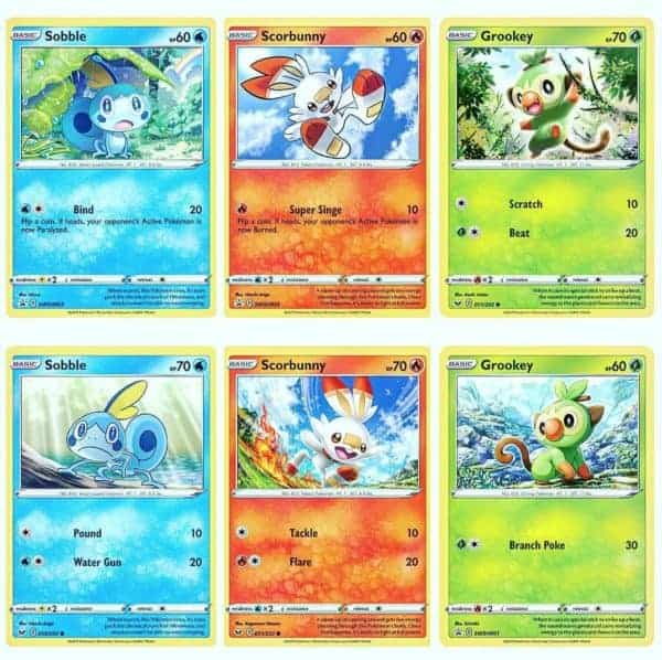 Pokemon TCG Galar Collections Starter Pokemon Preview CardCollectors
