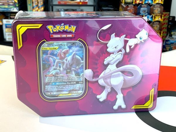 TAG TEAM Power Partnership Tin Mewtwo Mew Product CardCollectors