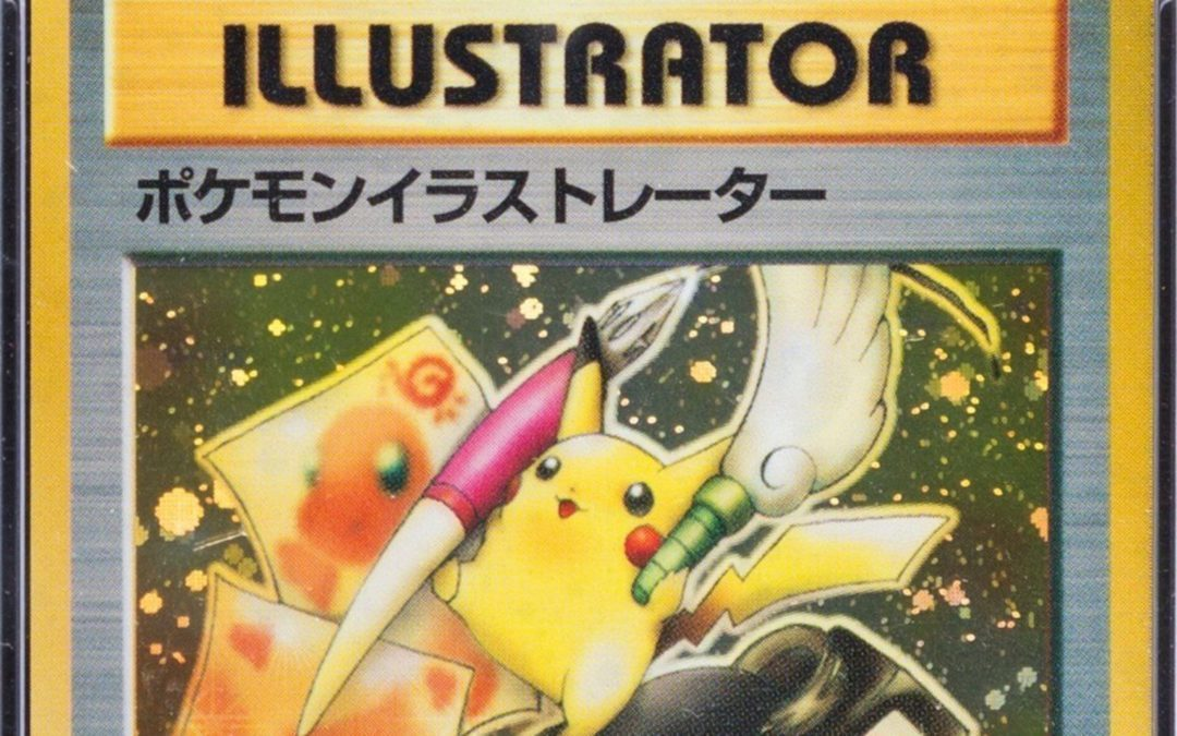 Pikachu Illustrator Pokemon TCG Card Detail w Border