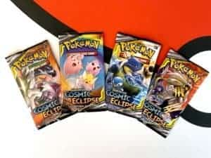 Sun Moon 12 Cosmic Eclipse Booster Pack Set of 4 Pokemon TCG Cardcollectors