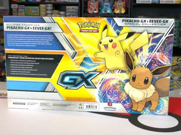 Pikachu GX Eevee GX Special Collection Back Pokemon TCG