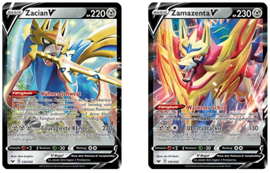 Sword Shield Pokemon TCG Zacian Zamazenta V VMAX