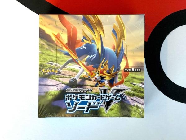Sword Shield S1W Japan Booster Box Top Pokemon TCG