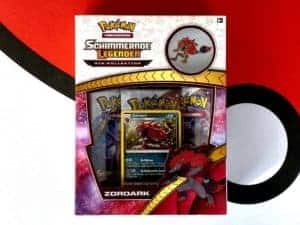 Schimmernde Legenden Zoroark Pin Collection Front CardCollectors