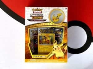 Shining Legends Pikachu Pin Collection Front CardCollectors