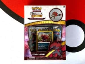 Shining Legends Zoroark Pin Collection Front CardCollectors