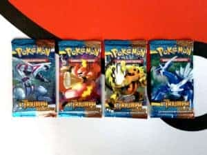 Pokemon TCG HS Triumphant Triumph DE All Packart Booster Front Row