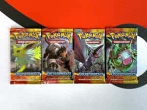Pokemon TCG HS Unerschrocken Undaunted DE All 4 Packart Booster Front