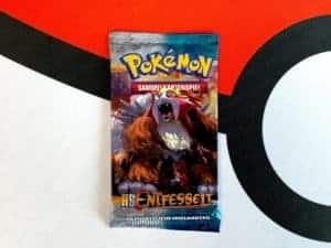 Pokemon TCG HS Unleashed Entfesselt DE Entei Packart Booster Front