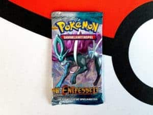 Pokemon TCG HS Unleashed Entfesselt DE Suicune Packart Booster Front