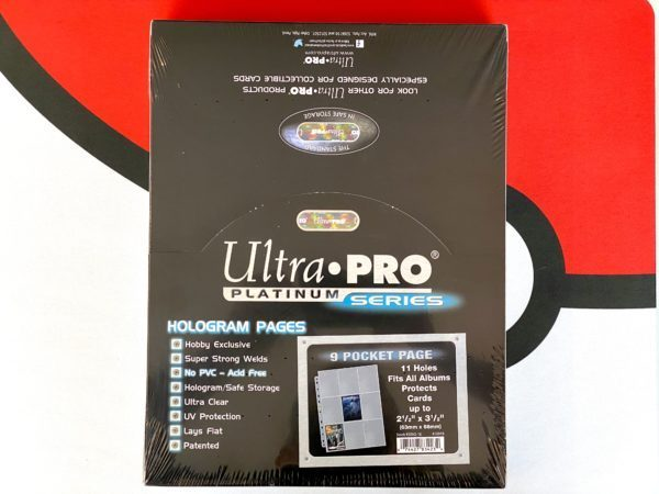 Ultra Pro Platinum 9-Pocket Hologram Ordner-Seiten Box