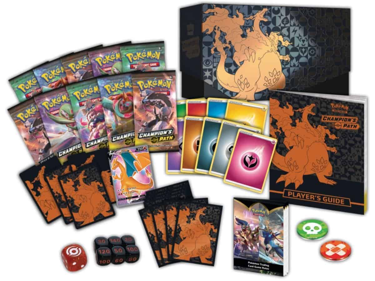 Champions Path SWSH 3.5 Elite Trainer Box Content Promo