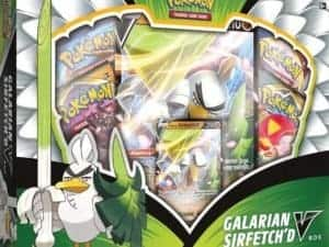 P-E Galarian Sirfetch'd V Box 2020 Promo Side