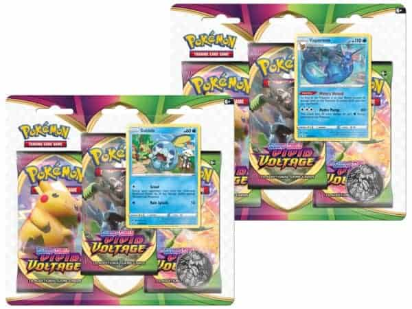 Vivid Voltage SWSH 4 Three Pack Blister Set P Pokémon TCG