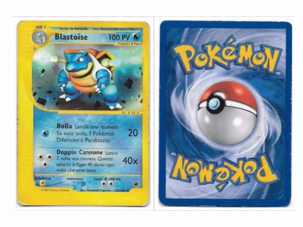 Pokemon Card Back Whiting Blastoise