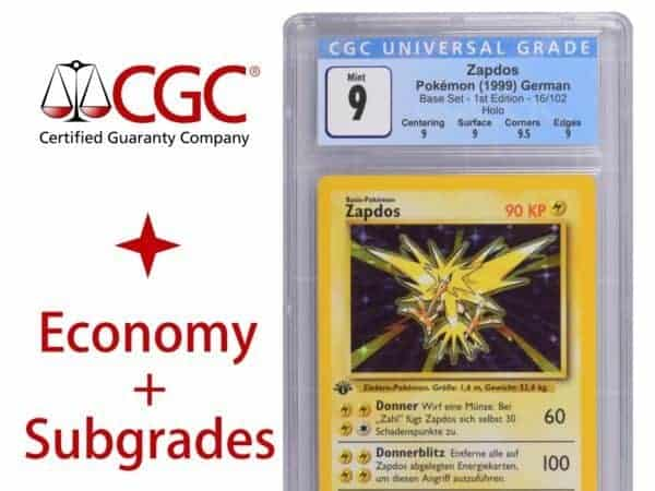 CGC Card Grading Ticket Eco SG Product Image