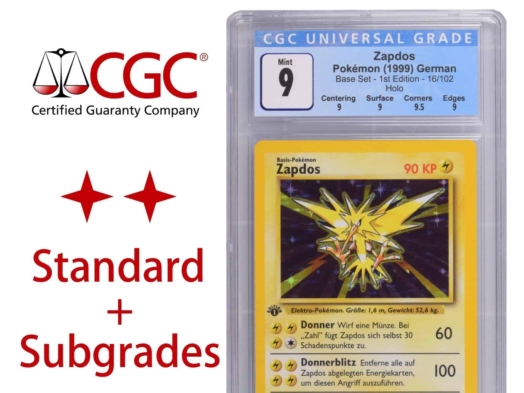 CGC Grading Ticket: 1 Karte TCG – Standard Service mit Subgrades